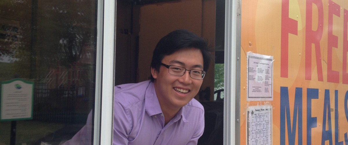 Colin Ng (EVST '16) interning with AmeriCorps VISTA Summer Associate with End Hunger CT.